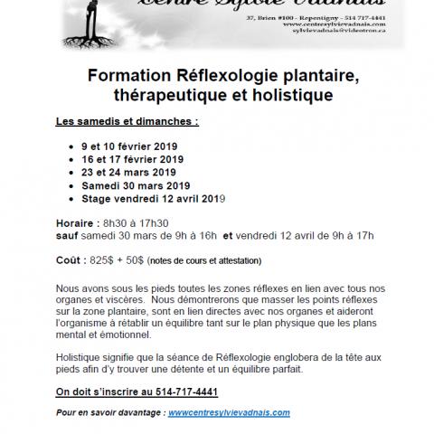 Formation en Réflexologie